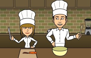 Erwin and Elena cooking